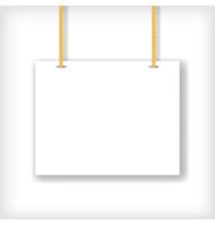White Handing Sign vector image