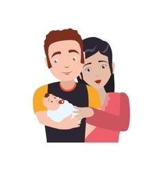 Family baby couple parents icon graphic vector