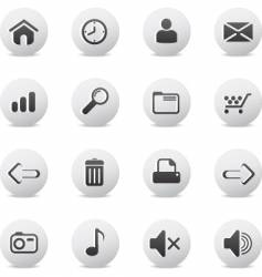 Web icons round vector