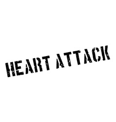 Heart attack rubber stamp vector