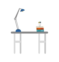 office desk isolated icon vector image