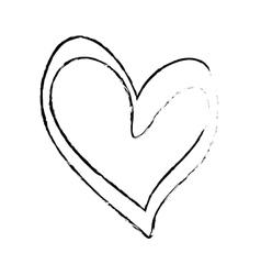 Heart scribble draw vector