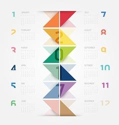 2017 calendar colorful concept design vector