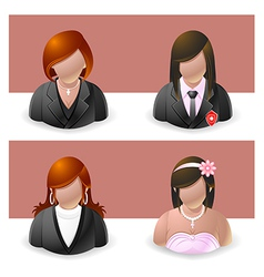 People icons women vector