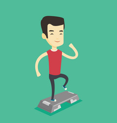 man exercising on stepper vector image