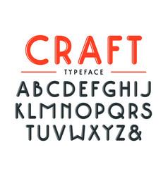 Decorative sanserif bulk font with rounded corners vector