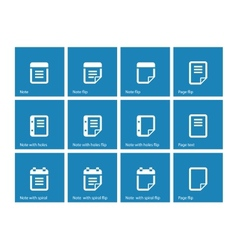 Notepad and sticky note icon set vector