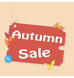 Discount autumn labels vector