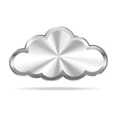 Silver cloud icon vector