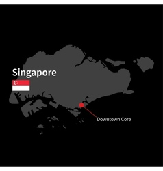 Detailed map of singapore and capital city vector
