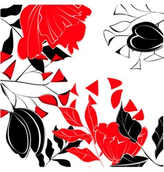 Contrast floral background vector