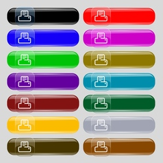 Printing icon sign set from fourteen multi-colored vector