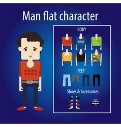 Mature man flat character vector
