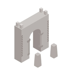 Wall fortress icon isometric 3d style vector