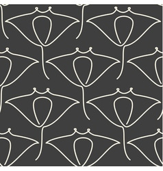 One line manta ray seamless pattern vector image