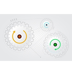 abstract cog gear wheel technology background vector image