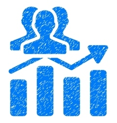 Audience chart trend grainy texture icon vector