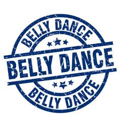 Belly dance blue round grunge stamp vector