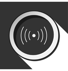 Black icon - sound or vibration with shadow vector