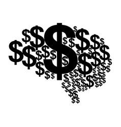 Brain money vector
