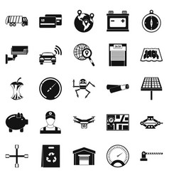 Car repair icons set simple style vector