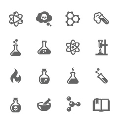 chemical icons vector image