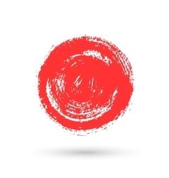 Circular spots of paint vector image