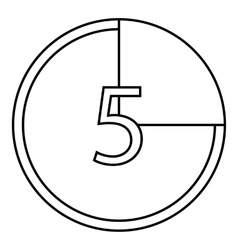 Countdown icon outline style vector