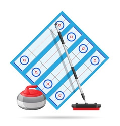 curling playground vector image