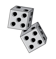Dice game icon image vector