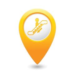 Escalator icon yellow map pointer2 vector