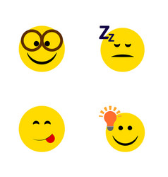 Flat icon gesture set of pleasant asleep have an vector