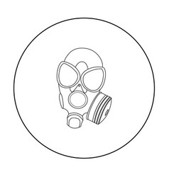 Gas masks icon outline single weapon icon from vector