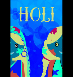 Happy holi kids celeration indian traditional vector