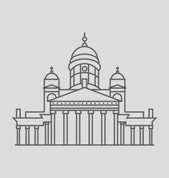 Helsinki cathedral vector