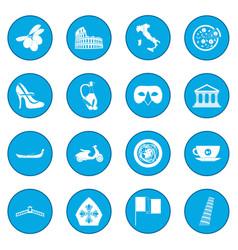 Italy black icon blue vector
