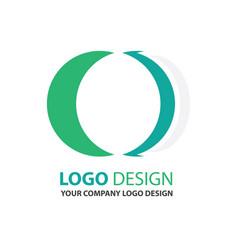 Logo circle design green color vector