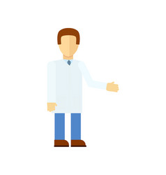 Male doctor in flat design icon vector