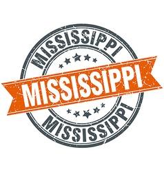 Mississippi red round grunge vintage ribbon stamp vector