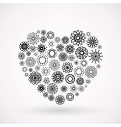 Ornamental heart vector