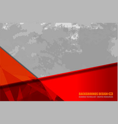 Red grey background grunge vector