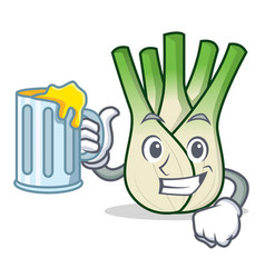 With juice fennel mascot cartoon style vector
