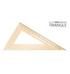 Wooden triangle vector