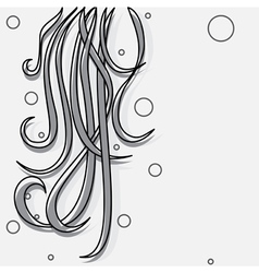 black-and-white background vector image