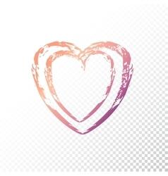 gradient heart vector image