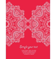 Invitation card with lace ornament 2 vector