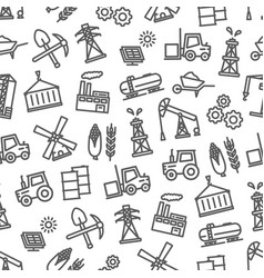 Heavy and food industry seamless pattern vector