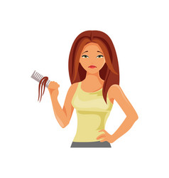 Hair loss vector