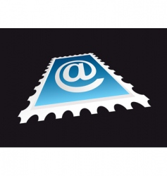 email stamp perspective vector image
