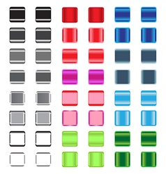 Set of glossy plastic buttons vector image